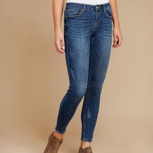 Dex Super Skinny Ankle Cut Jeans Stormy Blue 26